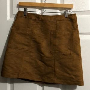 Old Navy Size 8 Faux Suede High Waisted Mini Skirt